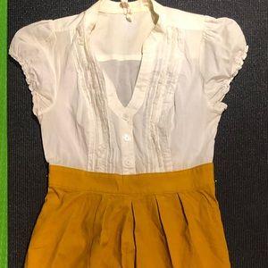 Anthropologie dress with corduroy skirt bottom